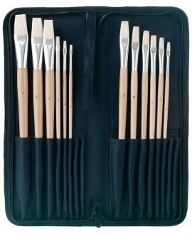 12 Borsten - Pinsel im Set mit Pinselmappe - Bild vergrößern
