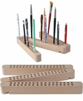 Stifte- und Pinselhalter Buchenholz - Bild vergrößern