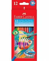 Aquarell-Farbstifte, 12er Set + Pinsel