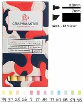 Graphmaster Marker Set B - Pastel