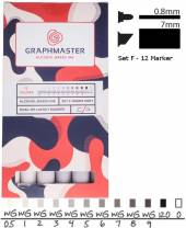 Graphmaster Marker Set F - Warm Grey