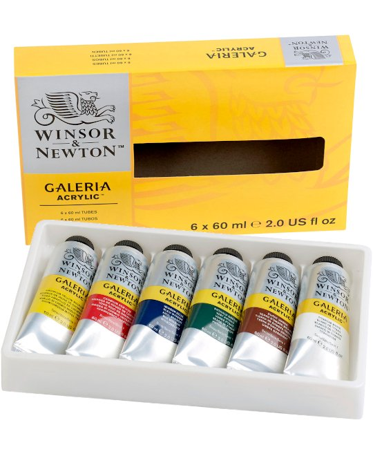 GALERIA Acrylic Colour, Set 6 Tuben á 60 ml